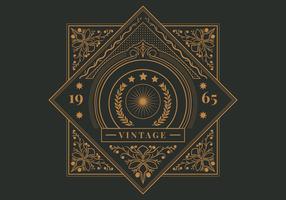 Retro Vintage Label sjabloon vector