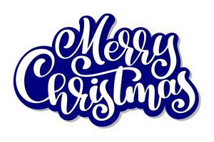Merry Christmas vector tekst Kalligrafische belettering ontwerp kaartsjabloon. Creatieve typografie voor de Giftaffiche van de vakantiegroet. Kalligrafie Lettertype stijl Banner