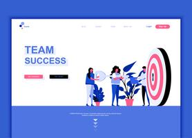 Moderne platte webpagina ontwerpsjabloon concept van Teamsucces vector