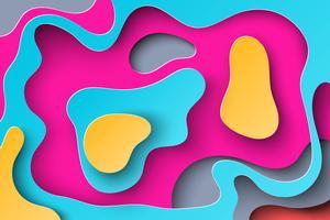 Abstracte achtergrond met papier gesneden vormen.