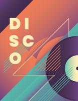 Disco posterontwerp vector