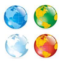 Globe earth kaart vector ontwerp illustratie sjabloon