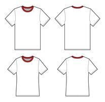 Basic Tee shirt mode platte technische tekening sjabloon