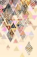Doodle abstracte achtergrond in pastel toon. vector