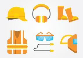 PPE-pakket (Personal Protective Equipment) vector