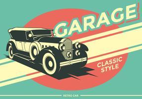 Retro auto garage vector