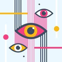 Moderne oog vectorillustratie vector