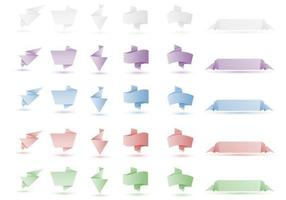 Origami Banner Vector Pack Twee
