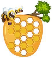 Geïsoleerde bijenkorf op witte achtergrond vector