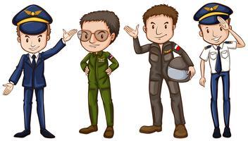 Vier piloten vector