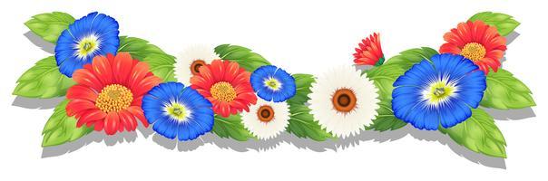 Kleurrijke verse bloemen vector