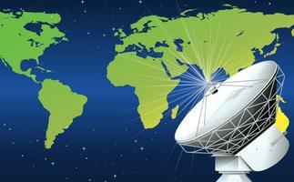 Een satelliet in de ruimte