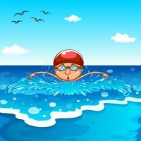 Zwemmen vector