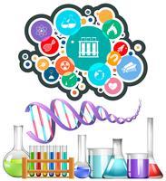Wetenschappelijke apparatuur en pictogrammen