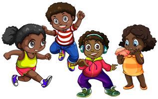 Afro-Amerikaanse jongens en meisjes vector