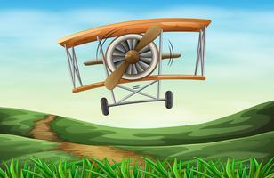 Een vintage vliegtuig vector