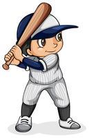 Een Aziatische honkbalspeler