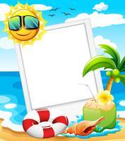 Een leeg frame op het strand