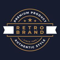 Retro badge grafische Logo embleem ontwerp vector
