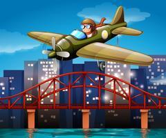 Piloot en vliegtuig vector