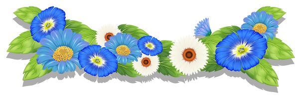 Bloeiende bloemen vector