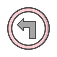 Vector Draai naar het linker pictogram
