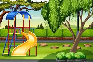 Snijd in het park