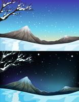 Natuurscène tijdens de winter vector