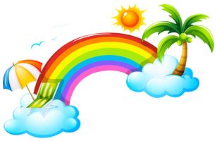 Een regenboog in de lucht