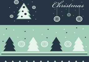 Groene Kerst Wallpaper en Vector Pack
