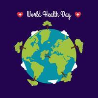 Wereldgezondheidsdag sjabloon
