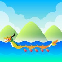drakenboot festival illustratie vector