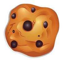 Een knapperig koekje met choco-ballen vector
