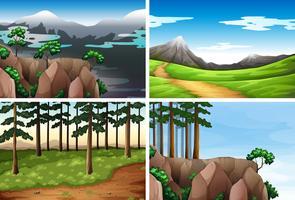 Set van natuur achtergrond vector