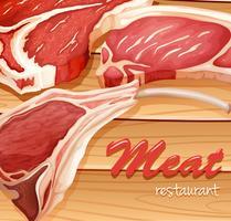 Vers vlees vector