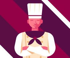 Chef-kok illustratie