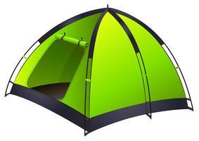 Groene enkele campingtent vector