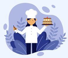 Vrouwelijke chef-kok Vector