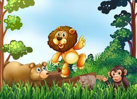 Dieren en jungle vector