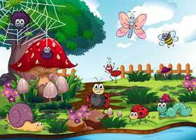 Insecten die bij de rivier wonen