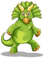 Groene rubeosaurus die zich op twee benen bevindt