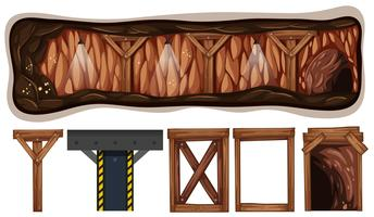 Een set van mijnbouwelementen vector