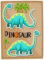 Blauwe brachiosaurus op poster