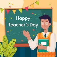 het concept van de dagviering van de leraar vector