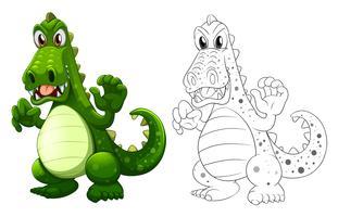 Doodles tekenend dier voor draak