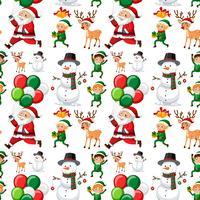 Naadloos patroon van Kerstmis