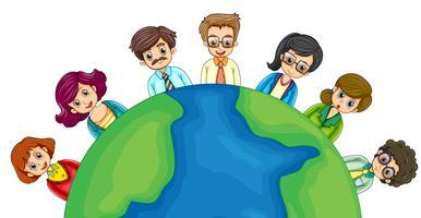 Mensen uit het bedrijfsleven over de hele wereld