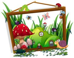 Insect op houten frame