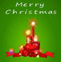 Een kerstsjabloon met kaarsen vector