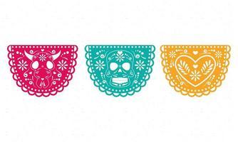 Mexicaanse feestslingers vector